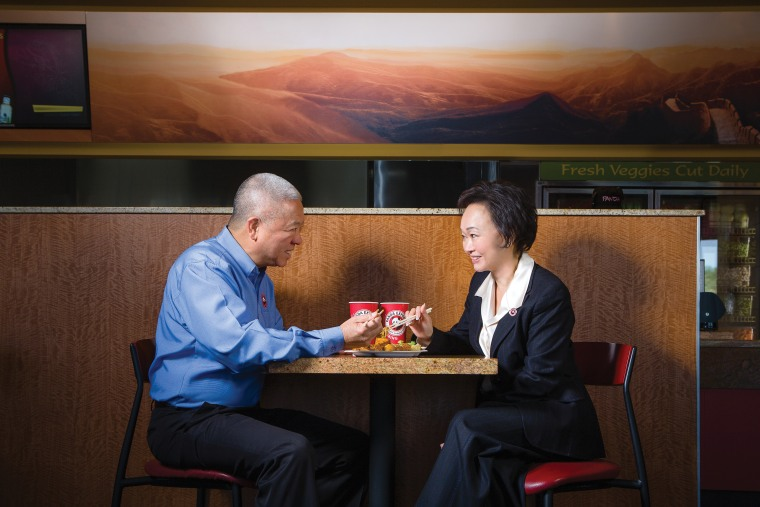 Andrew and Peggy Cherng, Founders and Co-CEO of Panda Restaurant Group, America's largest family-owned restaurant company.