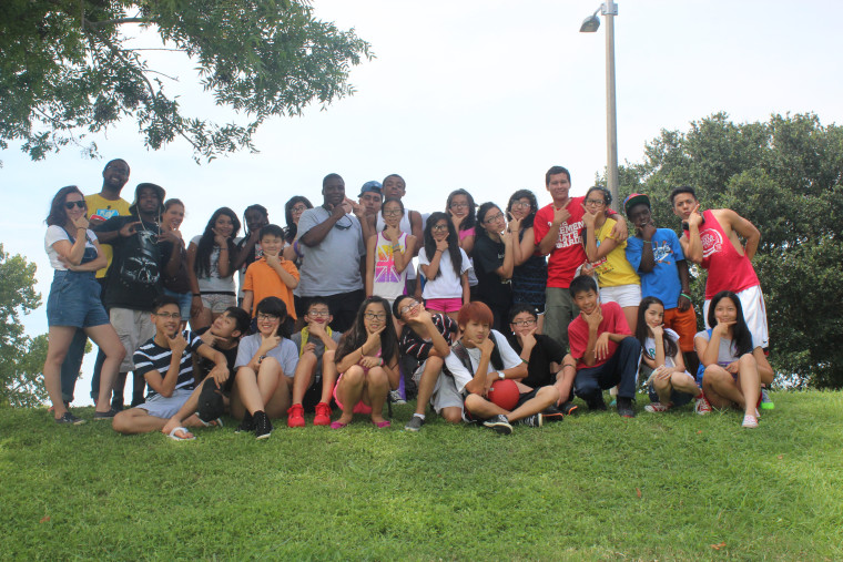 Participants in VAYLA-NO's summer social justice organizing institute, for low-income youth in communities of color across New Orleans.
