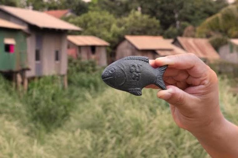 A Lucky Iron Fish ingot.