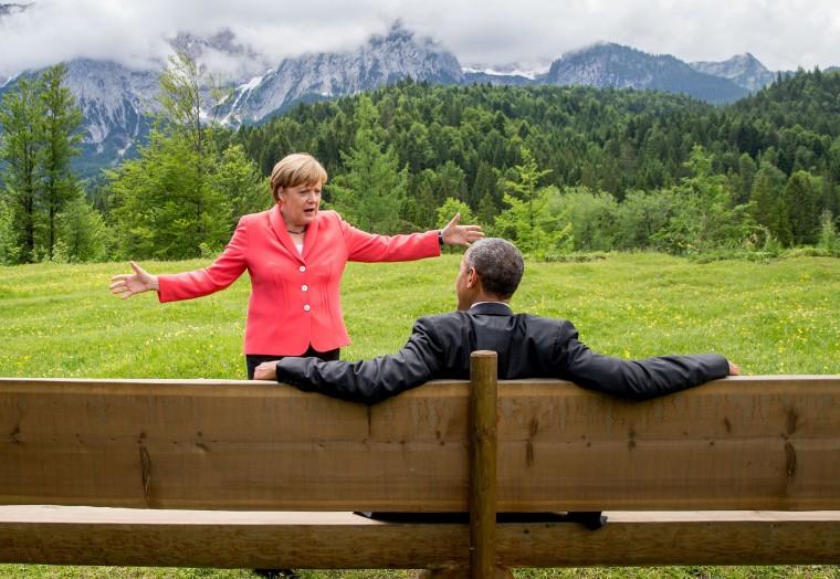Image: Angela Merkel and President Barack Obama