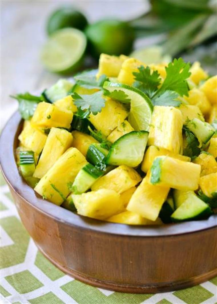 IMAGE: Pineapple cucumber salad