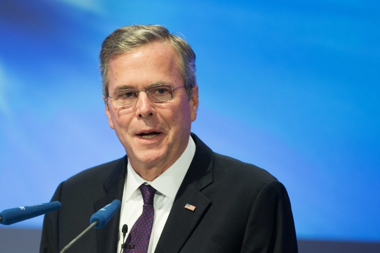 Former Florida Governor and possible Republican presidential candidate Jeb Bush speaks at the CDU Economics Conference of the Economic Council on June 09 in Berlin, Germany.