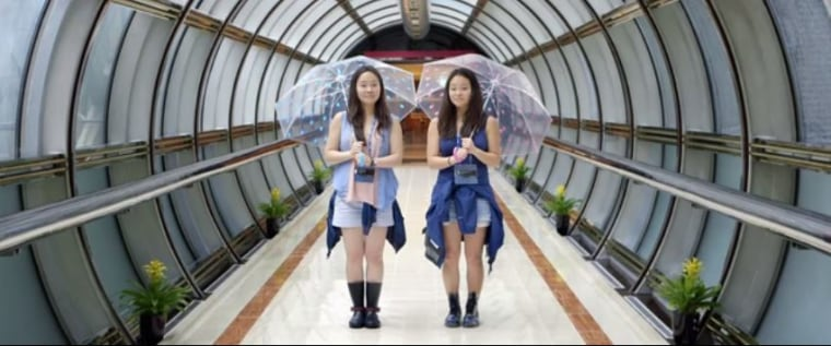 "The documentary ""Twinsters"" tells the story of Anaïs Bordier and Samantha Futerman, identical twins separated at birth through adoption from South Korea, only to be reunited 25 years later by a chance social media encounter."