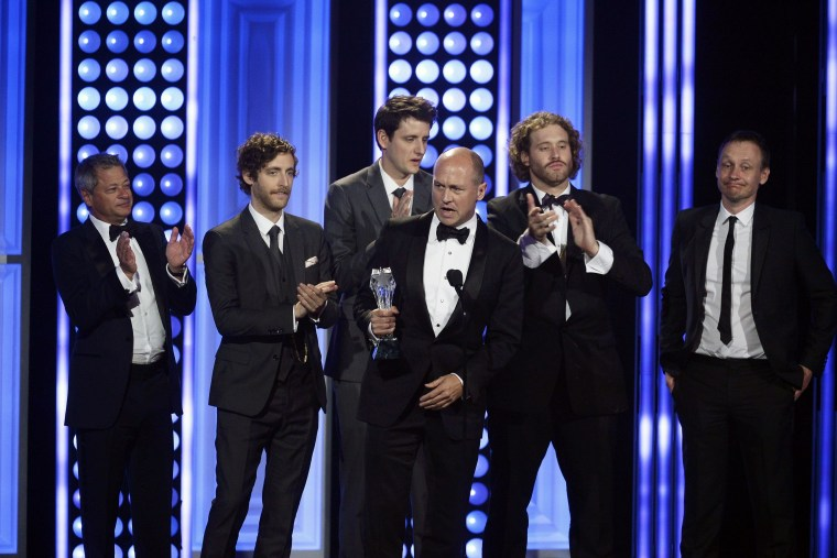 Image: Mike Judge accepts his award during the 5th Annual Critics' Choice Television Awards in Beverly Hills