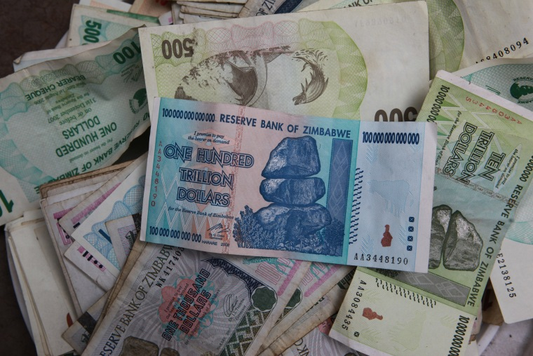 Image: Zimbabwean notes of various denominations