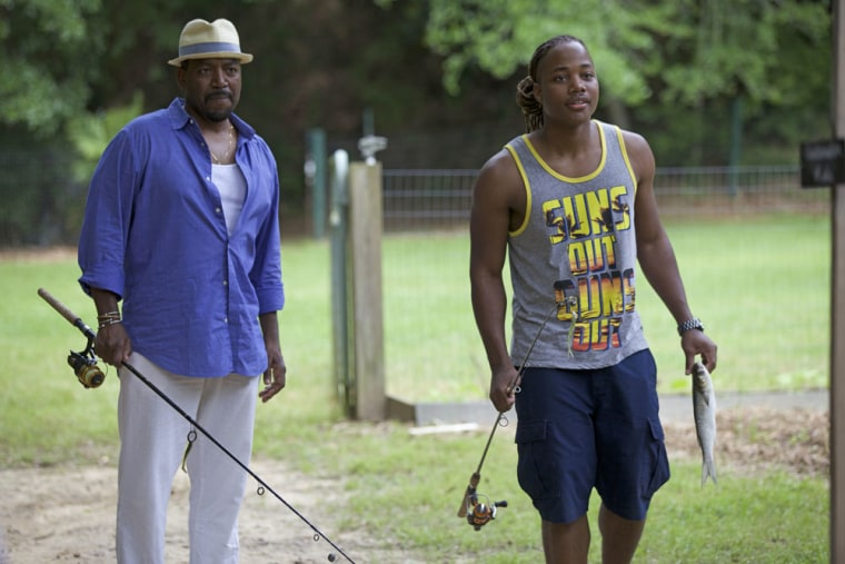 A. Russell Andrews and Leon Thomas III in Runaway Island