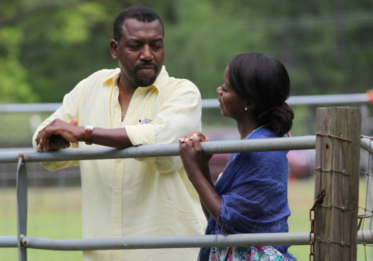 A. Russell Andrews and Lorraine Toussaint in Runaway Island