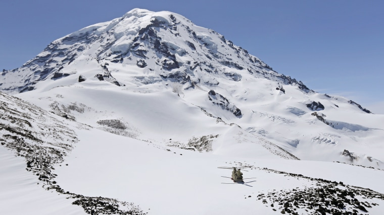 Four hikers stranded in high winds 13,500 feet up Mount Rainier