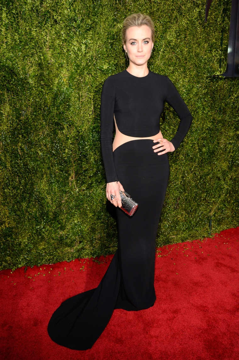 Taylor Schilling attends the 2015 Tony Awards