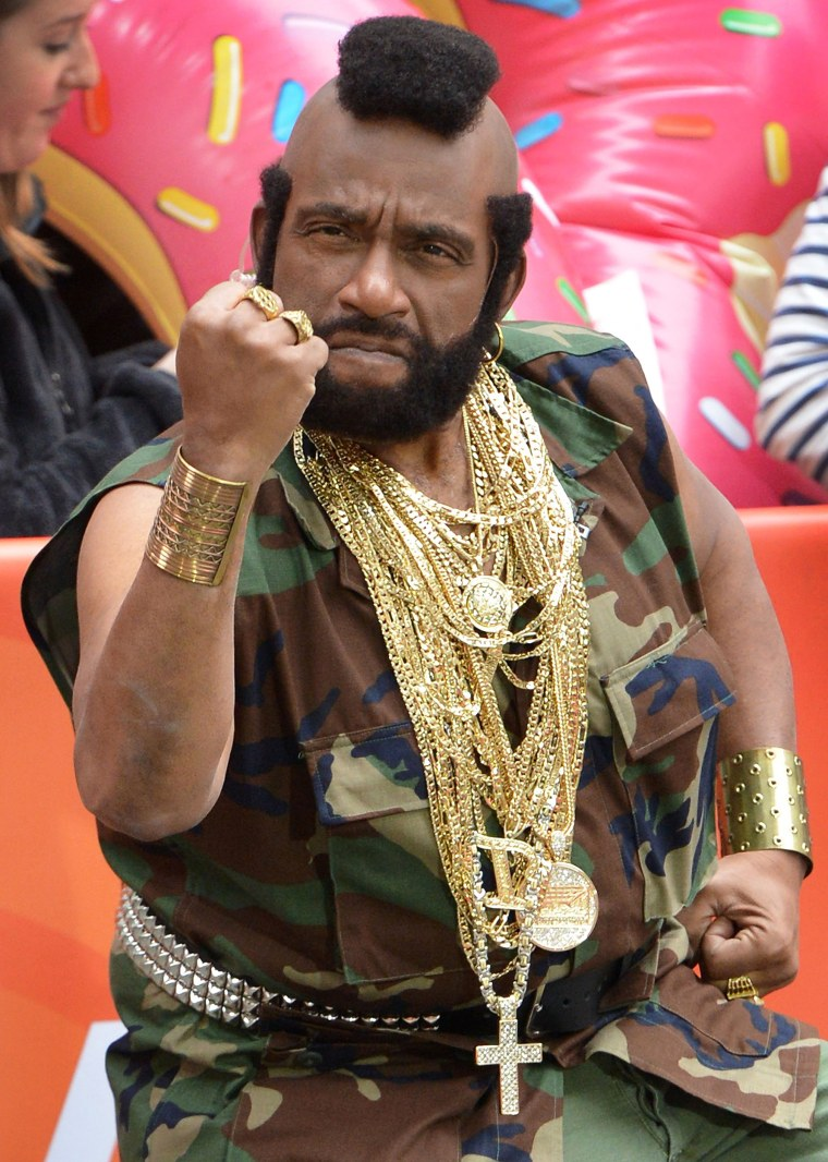 "Al Roker, Dressed as Mr T, attends NBC's ""Today"" Halloween 2013 in Rockefeller Plaza"