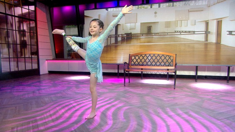 8-year-old dancer Alissa Sizemore, who lost a foot in an accident last year, performs on TODAY