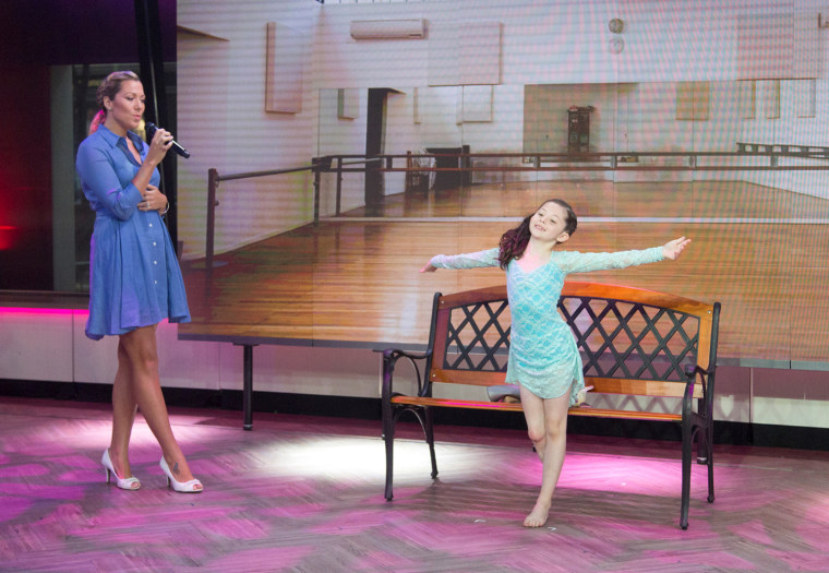 Singer Colbie Caillat surprises dancer Alissa Sizemore on the TODAY show