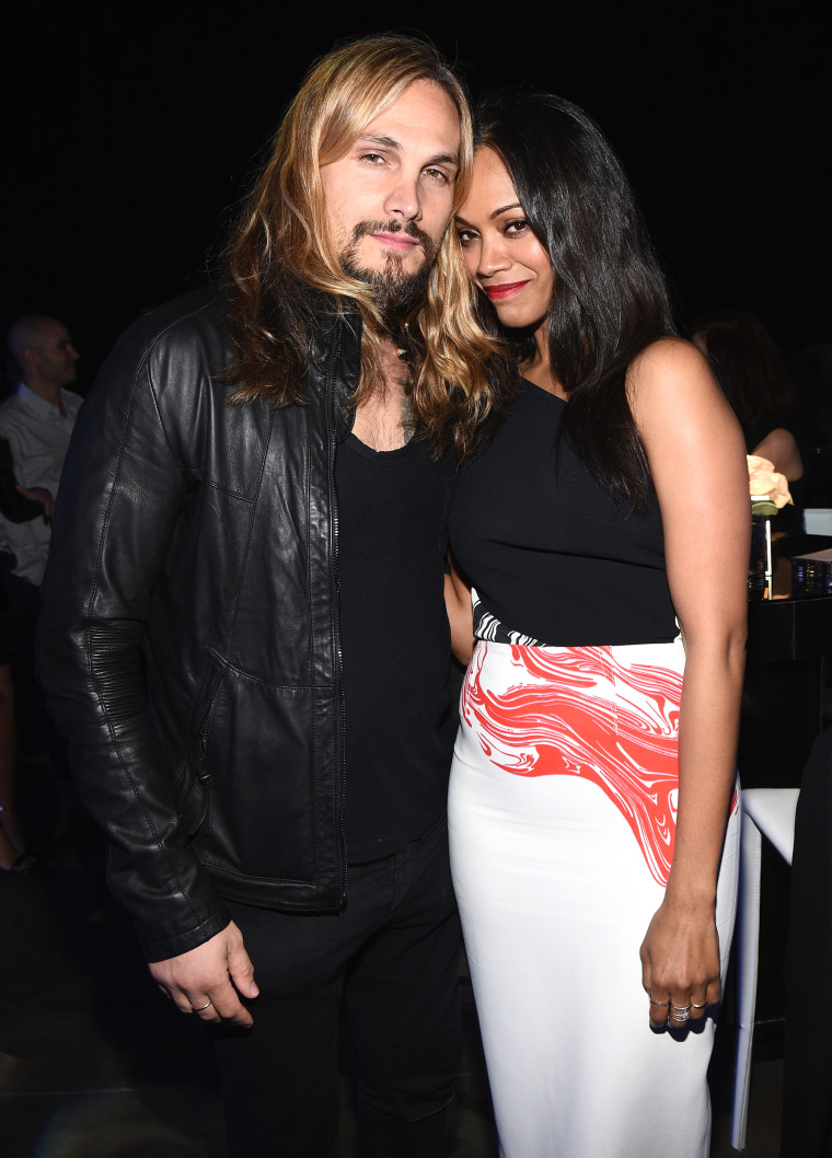 Zoe Saldana with husband Marco Saldana