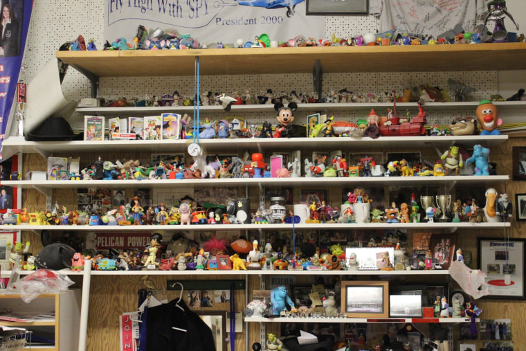 High-school teacher Nat Ellis has spent years collecting Happy Meal toys, which now number more than 1,000.