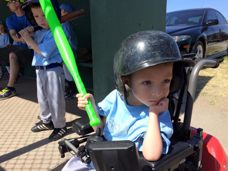 Logan Roninger's spinal muscular atrophy causes muscle weakness in a way that prevents him from walking, crawling or dressing himself without assistance.