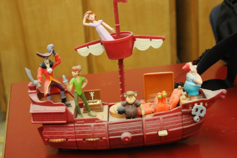 """This Peter Pan pirate ship is a """"prized gem"""" of the 1,139-piece Happy Meal toy collection, according to its seller, Nat Ellis."""