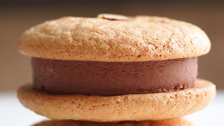 Almond Ice Cream Sandwich Cookies