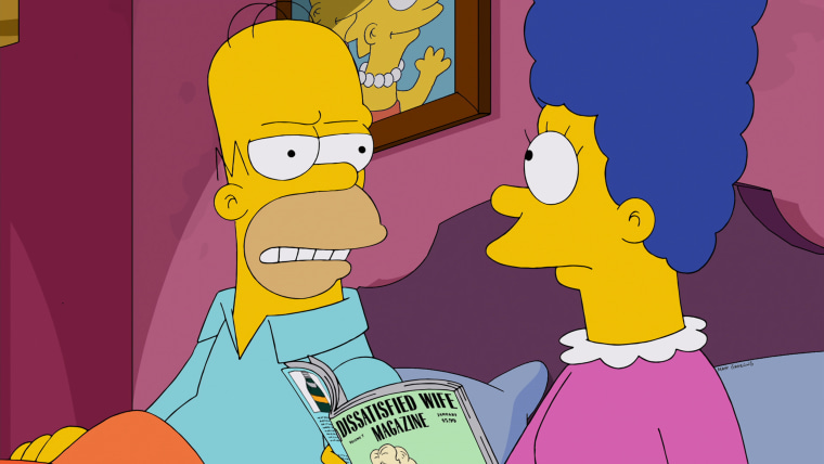 "Homer is shocked to hear Marge's low opinion of him in the ""Luca$"" episode of THE SIMPSONS"