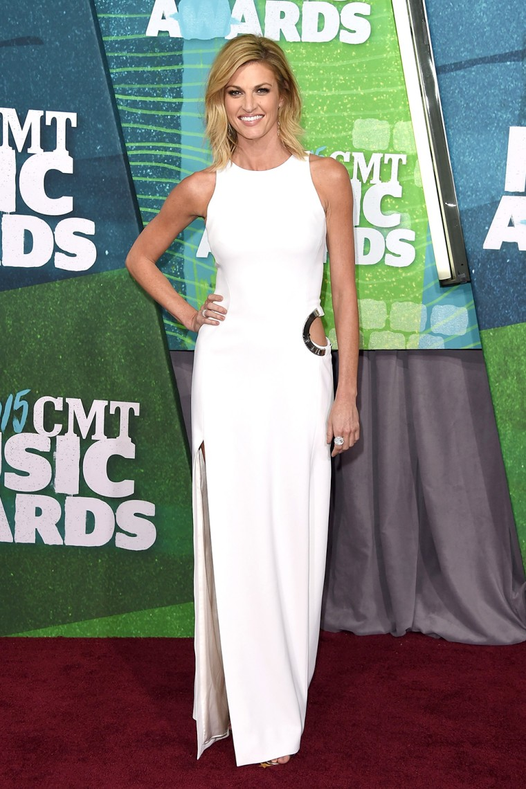 Erin Andrews arrives at the 2015 CMT Music Awards