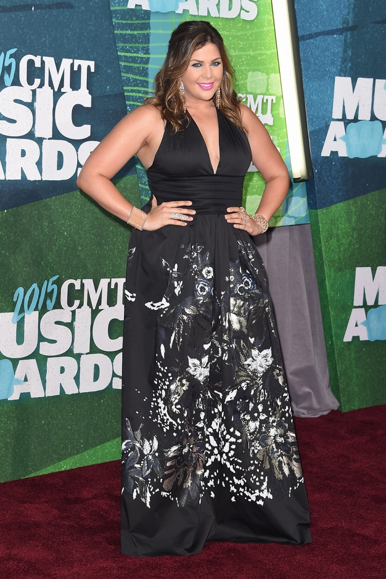 Hillary Scott arrives at the 2015 CMT Music Awards