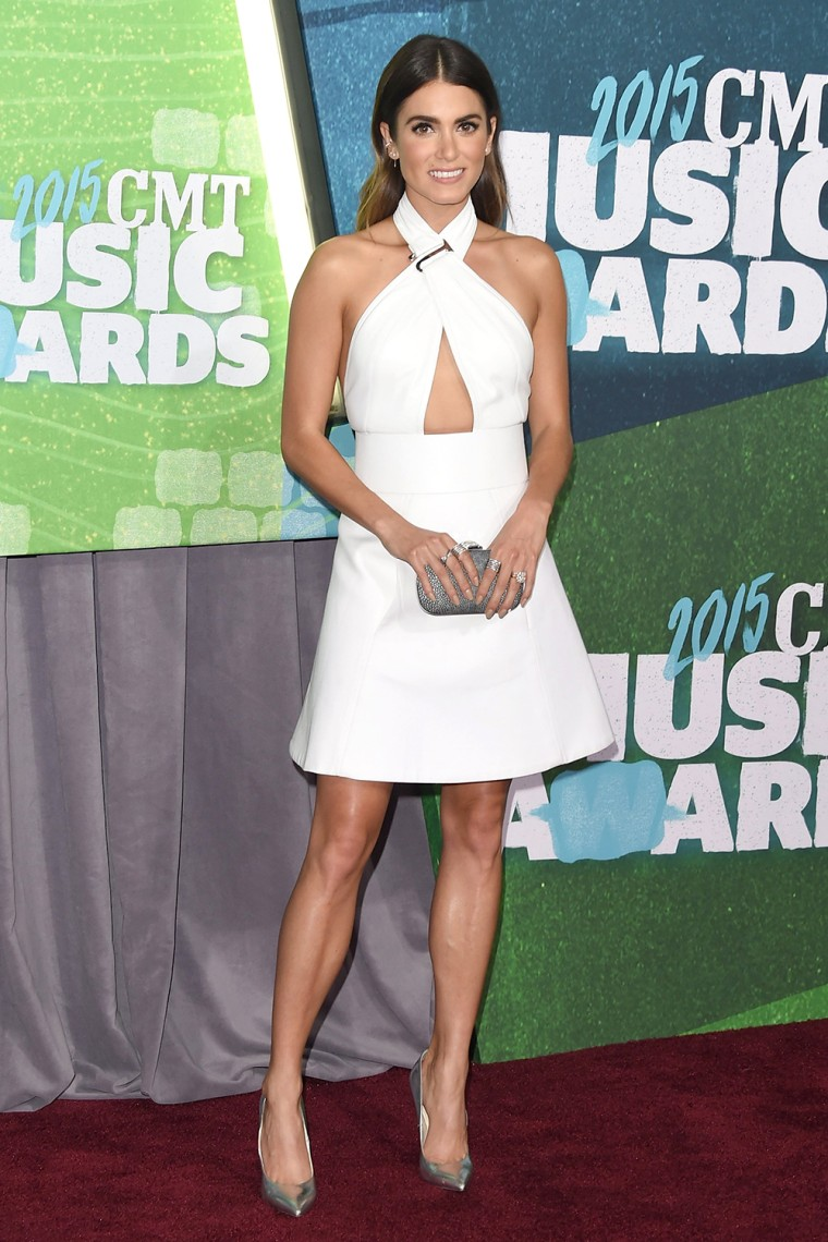 Nikki Reed arrives at the 2015 CMT Music Awards