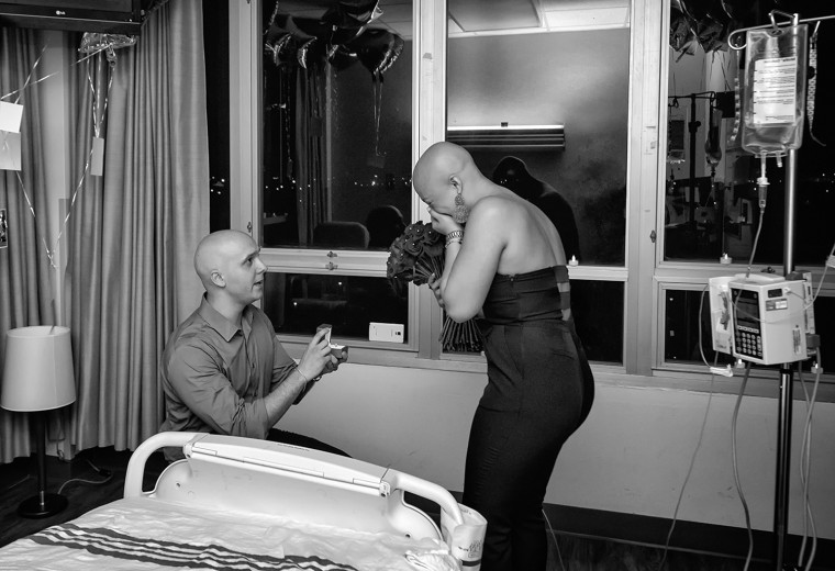 Engagement on last day of chemo