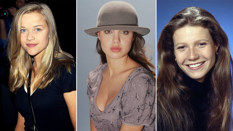Reese Witherspoon, 1994. Angelina Jolie, 1991. Gwyneth Paltrow, 1992.
