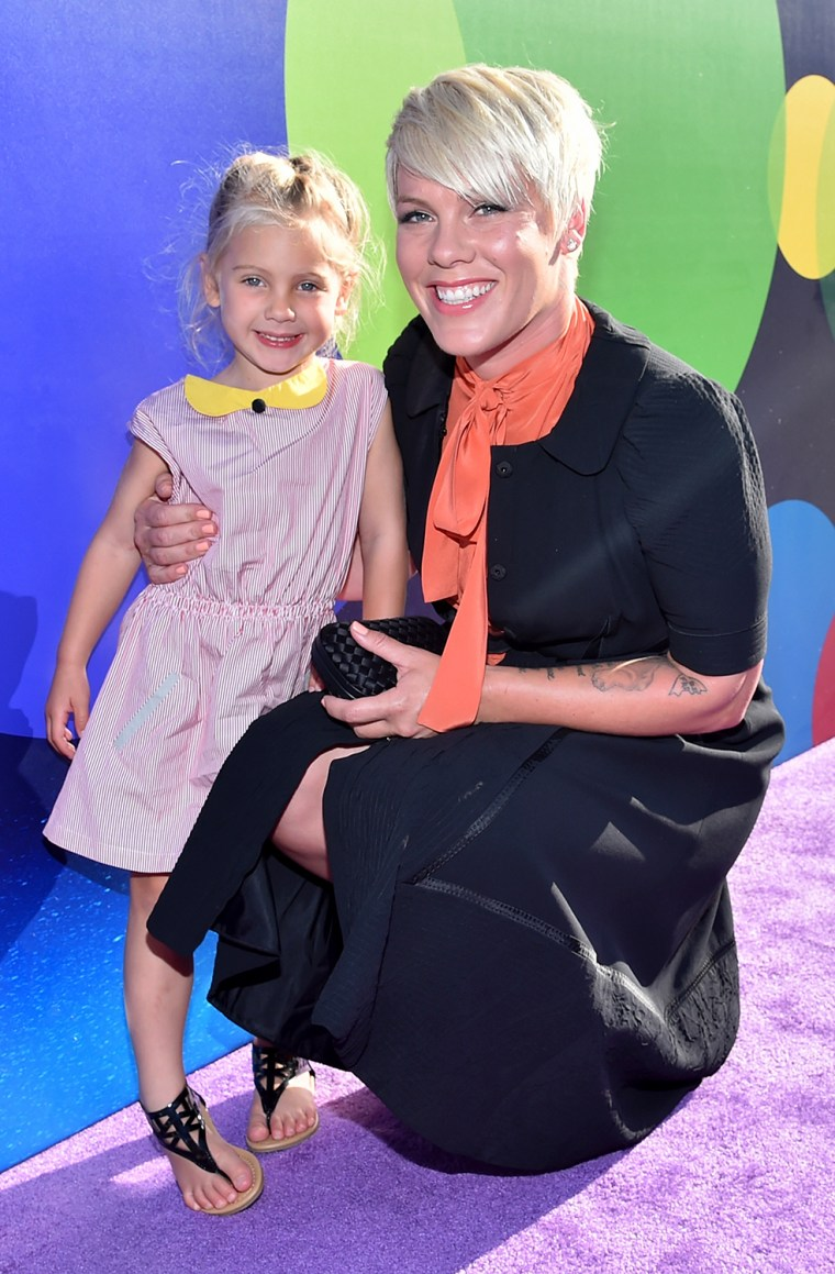Pink and daughter