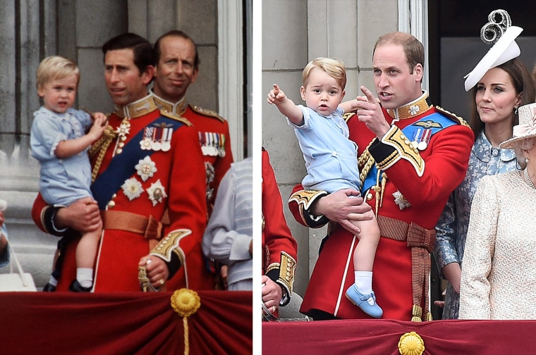 Charles And William Trooping The Colour