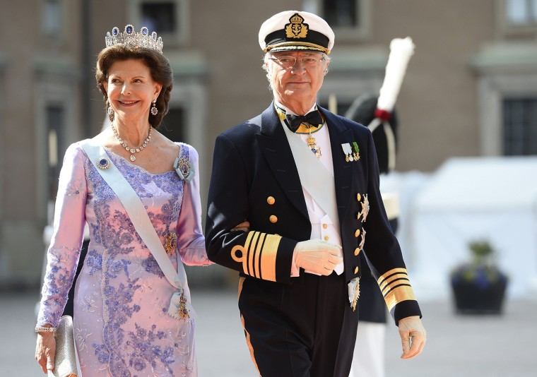 Sweden's Queen Silvia and Sweden's King Carl XVI Gustaf