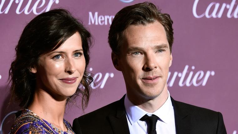 Actors Sophie Hunter and Benedict Cumberbatch