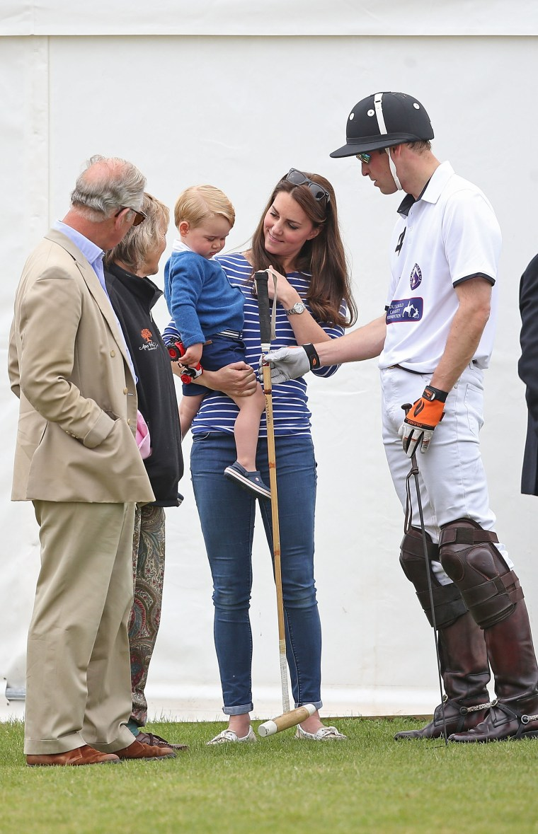 Duke Of Cambridge and Prince Harry play In Gigaset Charity Polo Match