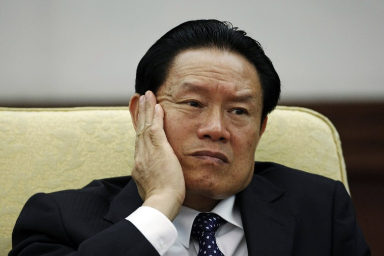 Image: File photo of China's former Public Security Minister Zhou