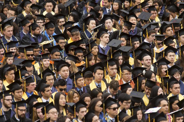 Image: Graduates attend commencement at University of California, Berkeley in Berkeley