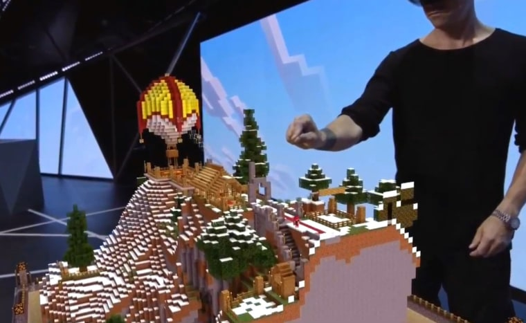 """Microsoft is building a version of """"Minecraft"""" specifically for its HoloLens augmented-reality headset."""