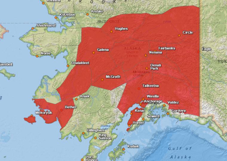 IMAGE: Alaska red-flag fire advisories