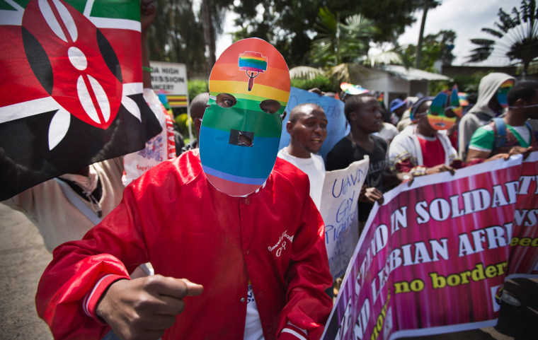 Image: Kenyan gays and lesbians protesters