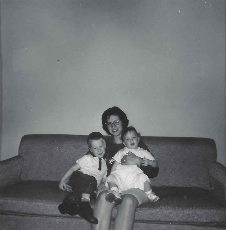 Image: Bernice Singleton with Jenny (age 18 months) and Ralph (age 3 1/2), 1963