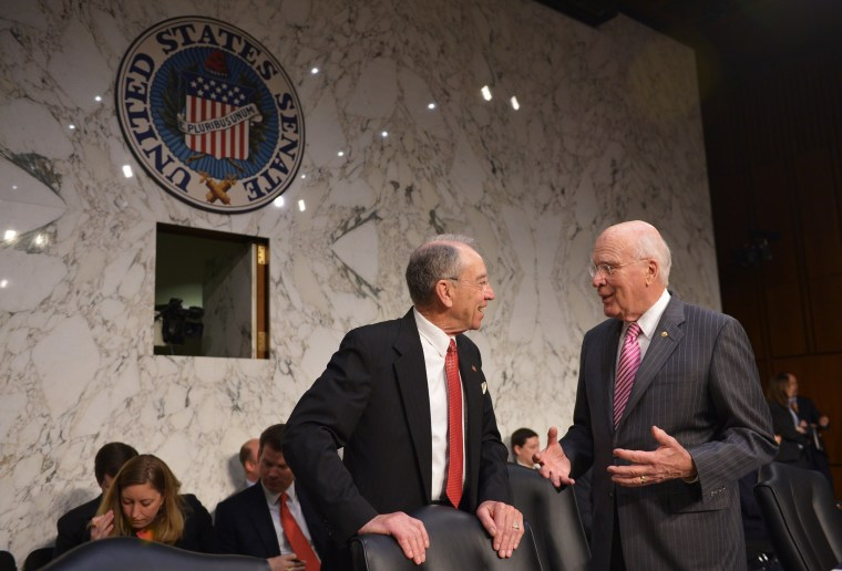 Image: US-CONGRESS-IMMIGRATION-LEAHY-GRASSLEY