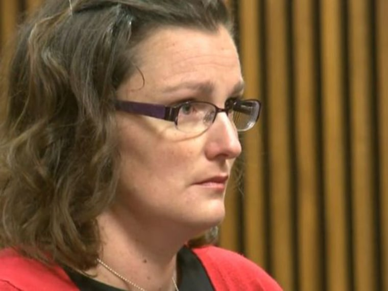 Michelle Schwab, the mother accused of dropping her 2-year-old son into the cheetah exhibit at the Cleveland Metroparks Zoo.