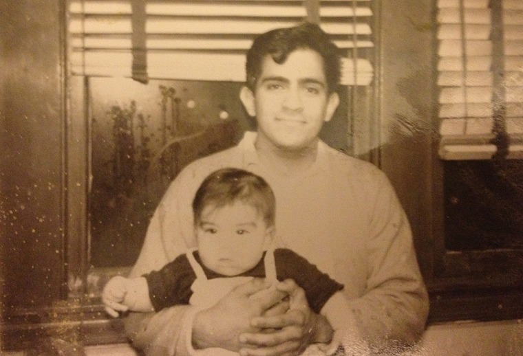 "Larry Gonzalez and his father Lorenzo ""Lody"" Guadalupe Gonzalez."