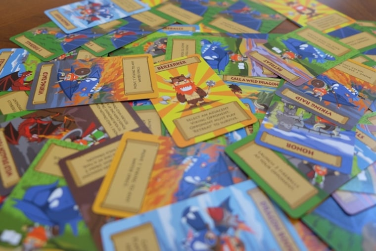 Cards from the Vikings of Dragonia game.