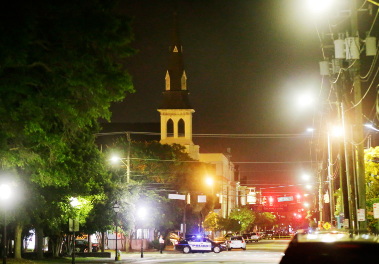 Image: The steeple of Emanuel AME Church