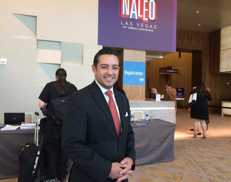 Image: Texas state Rep. Cesar Blanco says candidates such as Hillary Clinton need to appear at more Latino conferences