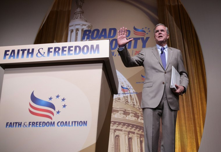 Image: Republican Presidential Hopefuls Address Faith And Freedom Summit In D.C.