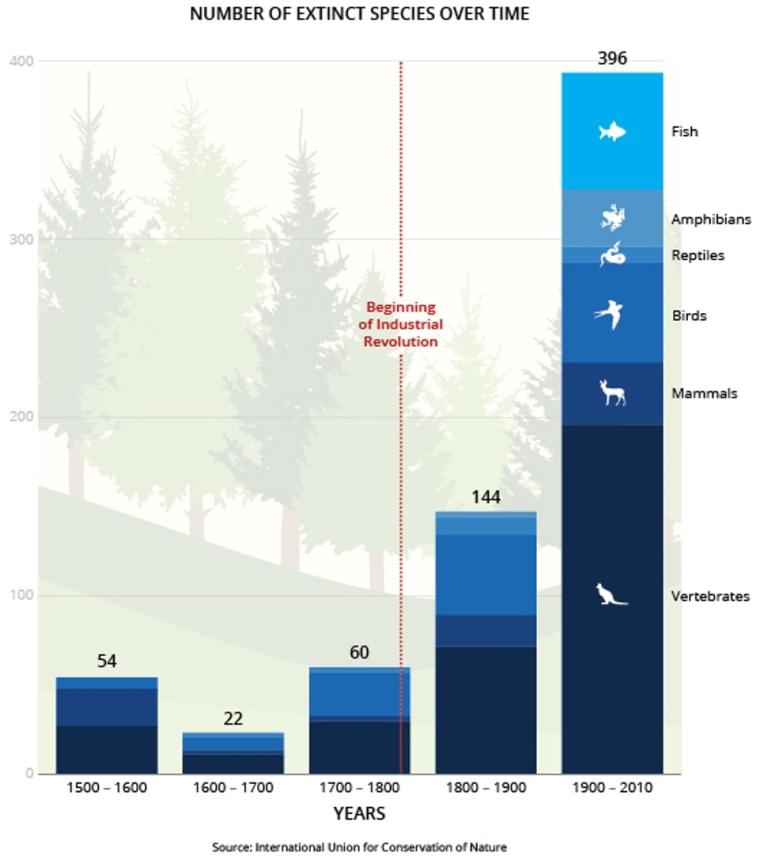 Image: IUCN extinction tally