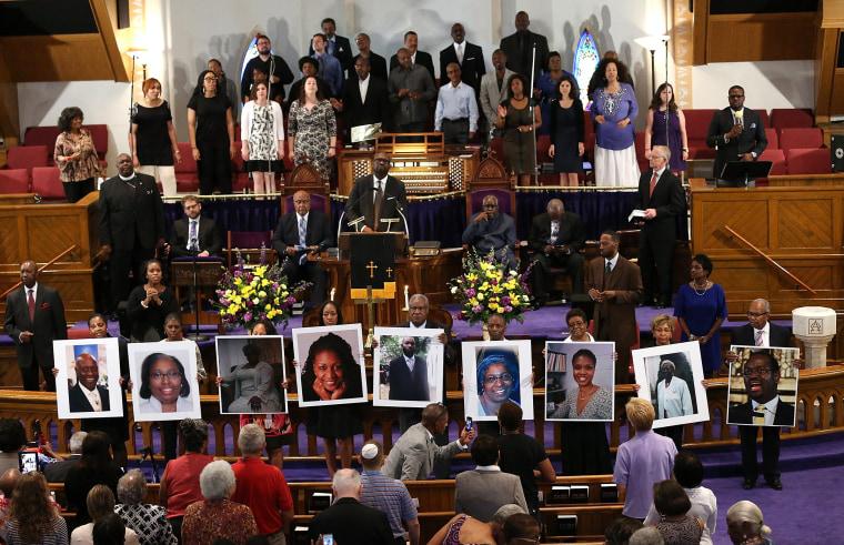 Image: Vigil Held For Victims Of Charleston Church Shooting