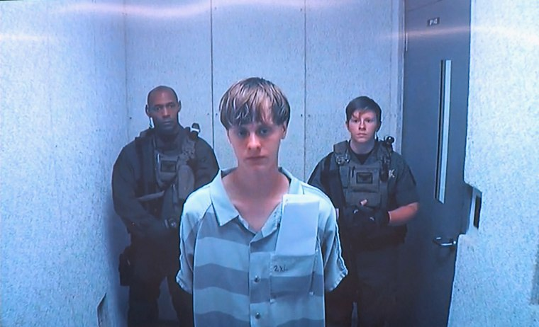 Image: Dylann Storm Roof makes initial court appearance.