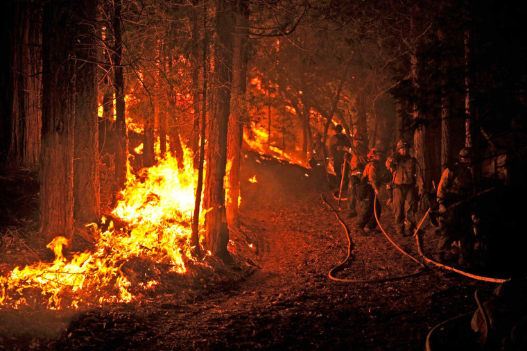 Firefighters battle the Lake Fire