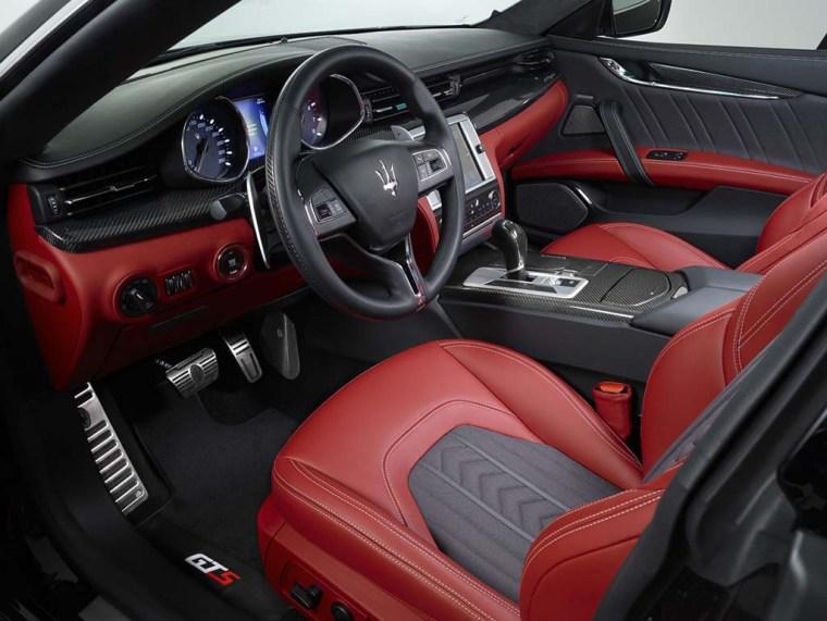 A Maserati Quattroporte with a Zegna silk interior.